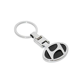 Hyundai Black Metal Key Chain / Key Ring-SehgalMotors.Pk