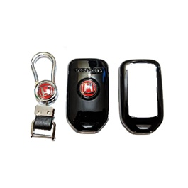 Honda Civic Key Protection Cover With Civic Logo Black - Model 2016-2019