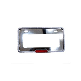 Chrome Diamond Style Number Plate Frame -SehgalMotors.Pk