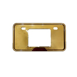 License Number Plate Frame Gold - Pair-SehgalMotors.Pk
