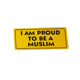 I Am Proud To Be A Muslim Sticker-SehgalMotors.Pk