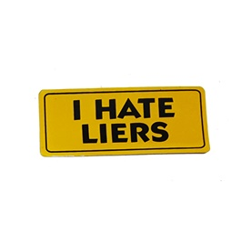 I Hate Liers Sticker-SehgalMotors.Pk