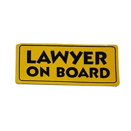 Lawyer On Board Sticker-SehgalMotors.Pk