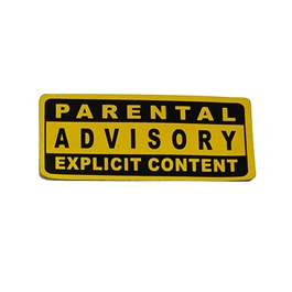 Parental Advisory Explicit Content Warning Sticker-SehgalMotors.Pk