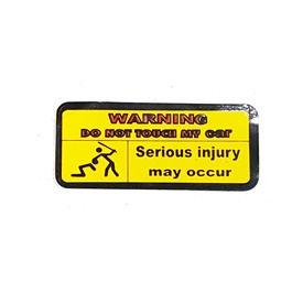 Do Not Touch My Car Warning Sticker-SehgalMotors.Pk