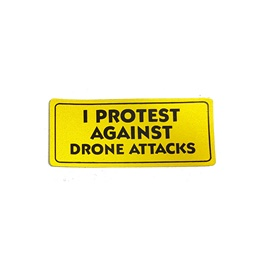I Protest Against Drone Attacks Sticker-SehgalMotors.Pk