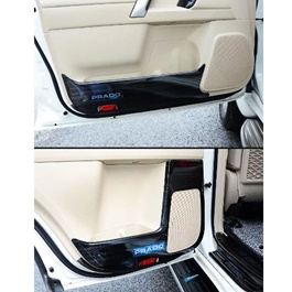 Toyota Prado Anti Kick Door Protection Cover Black - Model 2009-2021-SehgalMotors.Pk