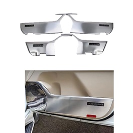Toyota Land Cruiser Anti Kick Door Protection Cover Chrome - Model 2015-2021-SehgalMotors.Pk