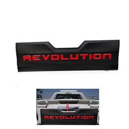 Toyota Hilux Revo Revolution Rear Tailgate Outer Lid Cover Red and Black - Model 2016-2019-SehgalMotors.Pk