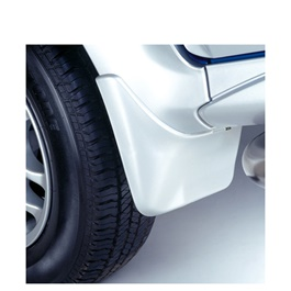 Suzuki Mehran Mud Flaps White - Model 2012-2019-SehgalMotors.Pk