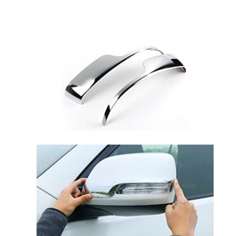 Toyota Prado Side Mirror Chrome Trims Style A - Model 2009-2018-SehgalMotors.Pk