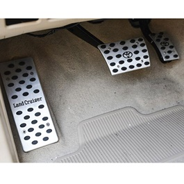 Toyota Land Cruiser Pedal Covers Chrome Black - Model 2007-2015-SehgalMotors.Pk