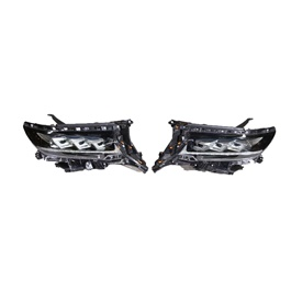 Toyota Prado LX570 Style Headlights / Head Lamps Pair - Model 2009-2018
