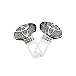 Toyota Diamond Style Seat Belt Clips - Pair | Safety Belt Buckles Real Trucks Car Seat Safety Belt Alarm Canceler Stopper | Car Safety Belt Clip Car Seat Belt Buckle-SehgalMotors.Pk