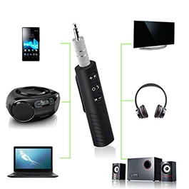 SEC Bluetooth Music Receiver Adapter and 3.5 mm Aux Output