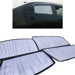 Toyota Corolla White Side Sunshade / Sun Shades - Model 2000-2005-SehgalMotors.Pk