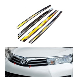 Toyota Corolla Face Lift Upper Grille Chrome Trims - Model 2017-2020-SehgalMotors.Pk