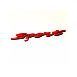 Sports Metal Logo - Red-SehgalMotors.Pk