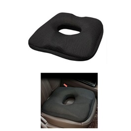 Car Back Care Summer Cool Seat Cushion - Black | Summer Gel Slowly Recoverable Mat Memory Cotton Breathable Cushion Car Fibre Buttock Shaping Health Care Cool Seat Cushion-SehgalMotors.Pk