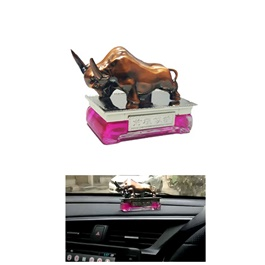 Car Decoration Bull Sculpture Car Perfume Fragrance For Dashboard V2