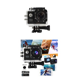 Action Sports Camera With Mounts Without Wifi