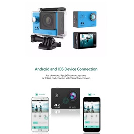 Action Sports Camera GoPro Style with Wifi | Video Output on Mobile Screen