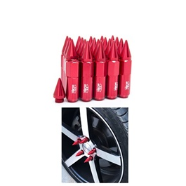 Blox Spike Lug Nuts / Wheel Nuts / Wheel Screws Red - 1.25mm-SehgalMotors.Pk