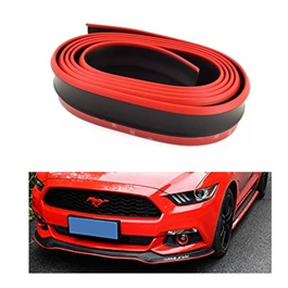 Rubber Lip Protector Black with Red Skirt-SehgalMotors.Pk