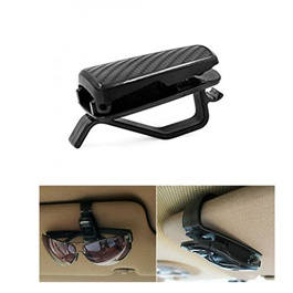 Carbon Fiber Sunglasses Clip Holder