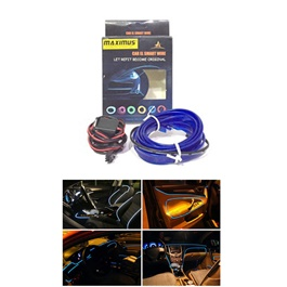 Maximus EL Glow Wire for Interior 2Meters (6ft) - Blue-SehgalMotors.Pk