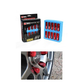 D1 Spec Lug Nuts / Wheel Nuts / Wheel Screws Red 1.25mm-SehgalMotors.Pk