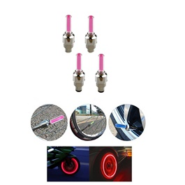 Tire Valve LED Air Nozzle Red – Pair