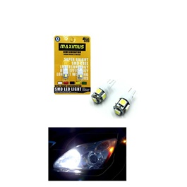 Maximus SMD 5 Parking Light White - Pair | Led Light Bulb For Parking | SMD Car I Exterior Lamps Parking Lights Car Accessories