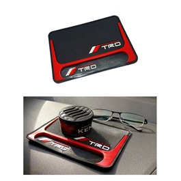 TRD Dashboard Non Slip / Anti-Skid Mat Red And Black-SehgalMotors.Pk
