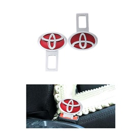 Toyota Red Logo Seat Belt Clip | Safety Belt Buckles Real Trucks Car Seat Safety Belt Alarm Canceler Stopper | Car Safety Belt Clip Car Seat Belt Buckle-SehgalMotors.Pk