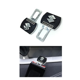 Suzuki Black Logo Seat Belt Clip Version 2 | Safety Belt Buckles Real Trucks Car Seat Safety Belt Alarm Canceler Stopper | Car Safety Belt Clip Car Seat Belt Buckle-SehgalMotors.Pk
