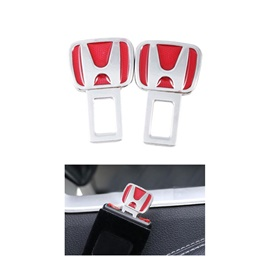 Honda Red Logo Seat Belt Clip | Safety Belt Buckles Real Trucks Car Seat Safety Belt Alarm Canceler Stopper | Car Safety Belt Clip Car Seat Belt Buckle-SehgalMotors.Pk