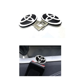 Toyota Seat Belt Clips Black and White | Safety Belt Buckles Real Trucks Car Seat Safety Belt Alarm Canceler Stopper | Car Safety Belt Clip Car Seat Belt Buckle-SehgalMotors.Pk