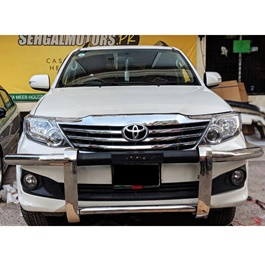 Toyota Fortuner Stainless Steel Front Bull Bar - Model 2013-2016-SehgalMotors.Pk