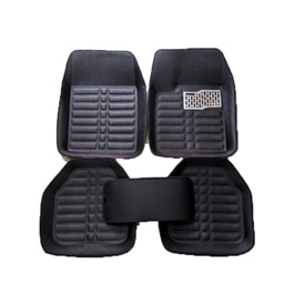 Universal 5D Custom Floor Mat Black - 5Pc-SehgalMotors.Pk