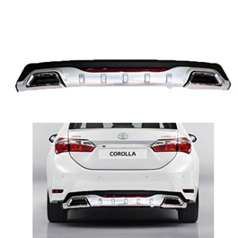 Universal Mercedes Style Dual Exhaust Diffuser Black Chrome