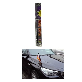Car Flag Rod Chrome With Pakistan Flag | Installed On Front Fender Or Bumper-SehgalMotors.Pk
