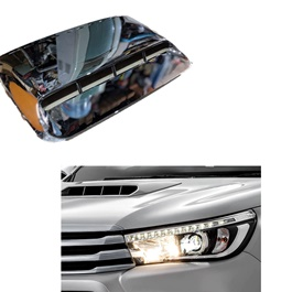 Toyota Hilux Revo Chrome Bonnet Air Flow - Model 2016-2019-SehgalMotors.Pk