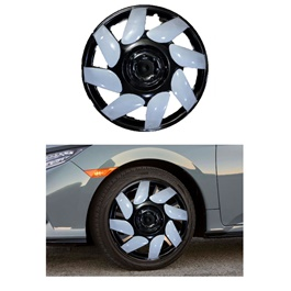 Wheel Cover ABS Black White BW1 4062- 14 inches-SehgalMotors.Pk