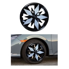 Wheel Cover ABS Black White 3079 - 13 inches-SehgalMotors.Pk