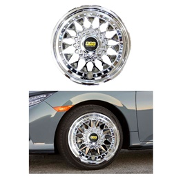 BBS Wheel Cover Full Chrome Style A - 14 inches-SehgalMotors.Pk