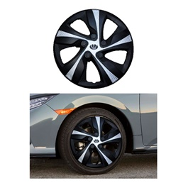 Wheel Cover ABS Black Silver 13 Inches - WX1-1SL-13-SehgalMotors.Pk
