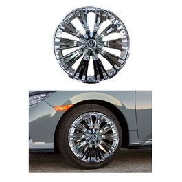 Wheel Cover ABS Silver 15 Inches - WM0-3SL-15-SehgalMotors.Pk