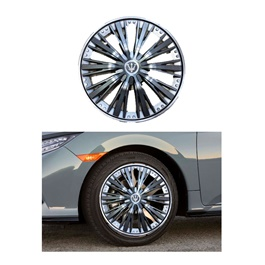 Wheel Cover ABS Silver Black 15 Inches - WM3-1SL-15-SehgalMotors.Pk