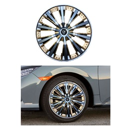 Wheel Cover ABS Silver Gold 15 Inches - WM2-3GL-15-SehgalMotors.Pk